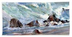 Monster Waves Beach Towel
