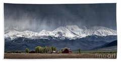 Beach Towel featuring the photograph Montana Homestead by Brad Allen Fine Art