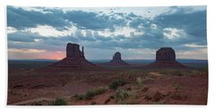 Monument Valley Before Sunrise Beach Towel