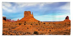 Beach Towel featuring the photograph Monument Valley by David Morefield