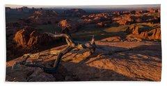 Monument Valley From Hunts Mesa Beach Towel