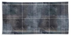 Moody Blue Plaid Beach Towel