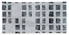 Moody Blues Data Pattern Beach Towel