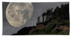 Moon And Beach Beach Sheet