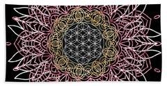 Beach Towel featuring the digital art Moon Mandala by Bee-Bee Deigner