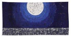Moonbathing Original Painting Beach Towel