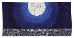 Moonbathing Original Painting Beach Sheet