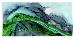 Beach Towel featuring the painting Moondance I by Kathryn Riley Parker