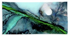 Beach Towel featuring the painting Moondance II by Kathryn Riley Parker