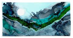 Beach Towel featuring the painting Moondance IIi by Kathryn Riley Parker