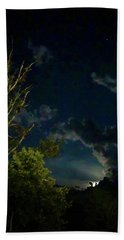 Moonlight In The Trees Beach Towel