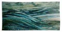 Moonlit Storm Beach Towel