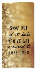 Moonstruck Quote Beach Towel