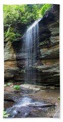 Moore Cove Falls In North Carolina 1  Beach Towel