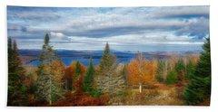 Mooselookmeguntic Lake Fall Colors Beach Sheet
