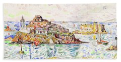Morlaix, Entrance Of The River - Digital Remastered Edition Beach Towel