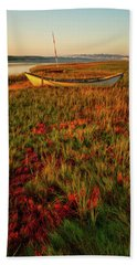 Beach Towel featuring the photograph Morning Dory by Jeff Sinon