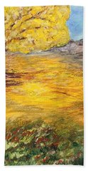 Beach Towel featuring the painting Morning Glory by Norma Duch