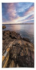 Beach Towel featuring the photograph Morning Light Over The Piscataqua River. by Jeff Sinon