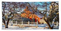 Beach Towel featuring the photograph Morning Light, Winter Garden. by Jeff Sinon