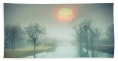 Beach Towel featuring the photograph Morning Mist by Edmund Nagele