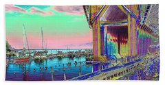 Morning Pink Marquette Ore Dock Beach Towel