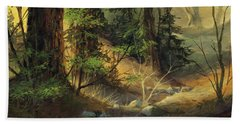 Morning Redwoods Beach Towel