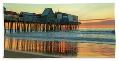 Morning Reflections Old Orchard Beach Beach Towel
