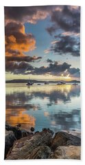 Morning Reflections Waterscape Beach Towel