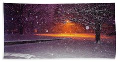 Morning Snow Beach Towel