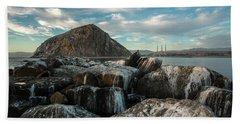 Morro Rock Breakwater Beach Towel