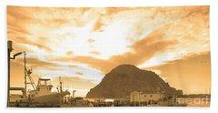 Morro Rock Sky Beach Towel