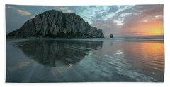 Morro Rock Sunset Beach Towel