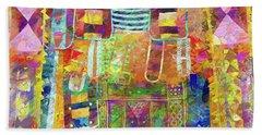 Mosaic Garden Beach Towel