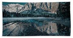 Mount Chephren Reflected Beach Towel