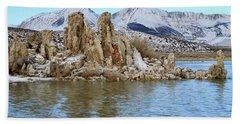 Mount Dana At Dawn  Mono Lake Beach Sheet