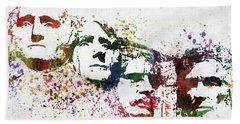 Mount Rushmore National Memorial Colorful Watercolor Beach Towel