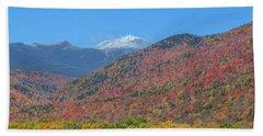 Mount Washington First Foliage Snow Beach Towel
