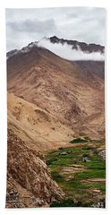 Beach Towel featuring the photograph Mountain Farming by Whitney Goodey