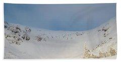 Beach Towel featuring the photograph Mountain Light, Tuckerman Ravine by Jeff Sinon