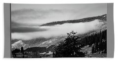 Beach Towel featuring the photograph Mountain Mist by Pete Federico