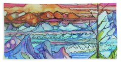 Mountains And Sea Beach Sheet
