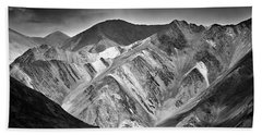 Beach Towel featuring the photograph Mountains At Pangong by Whitney Goodey