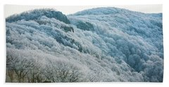 Mountainside Hoarfrost Beach Towel