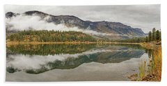 Beach Towel featuring the photograph Mountainside Reflections by Leda Robertson