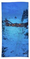Mt Assiniboine Lodge At  Night Beach Towel