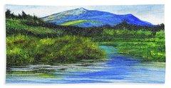 Mt. Monandnock From Scott Brook Beach Towel