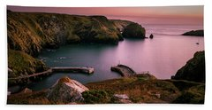 Mullion Cove Sunset - Cornwall General View Beach Sheet