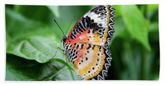 Multi Colored Butterfly Beach Towel