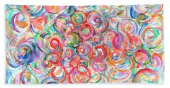 Multicolor Bubbles Beach Sheet